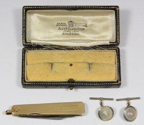 (lot Of 2) Gentlemen's Cultured Pearl, Mother-of-pearl,