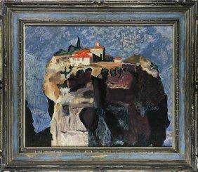 Painting, Meteora Monastery, Greece