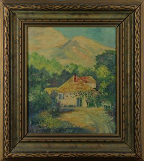 Painting, House In The Mountains
