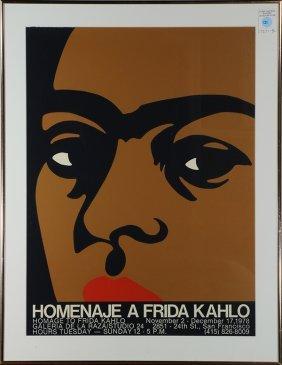 Print, Rupert Garcia, Frida Kahlo