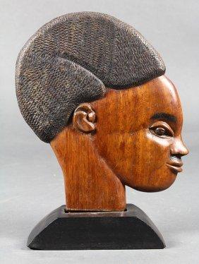 Sculpture, Bust Of An African American Boy