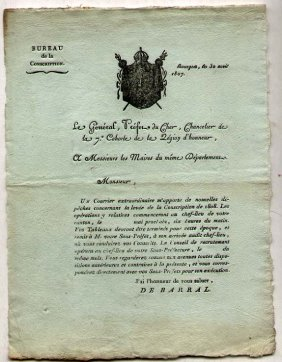 France] Napoleonic 1807 Document