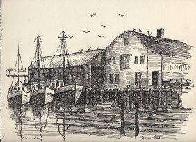 Gloucester Harbor, Mass. Scene