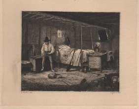 Gustave Marie Greux [1838-1919] French Etcher