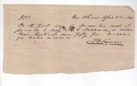 P.w. Farrar - 1844 New Orleans