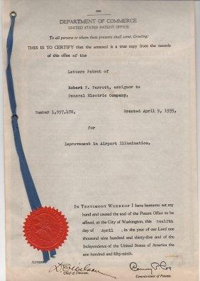 Airport Illumination 1935 Patent