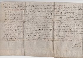 1539 French Mystery Document On Vellum
