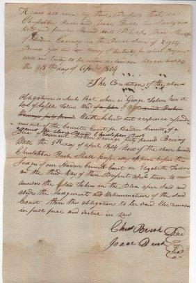 Kentucky Pioneer Document 1804