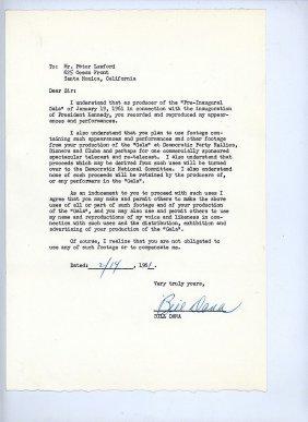"""John F. Kennedy's """"pre-inaugural Gala"""""""