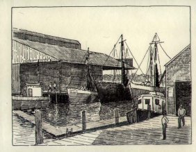 Gloucester, Mass. Harbor Scene