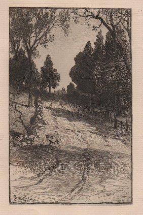 James David Smillie Etching 1879