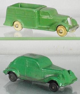 2 RUBBER AUTOS