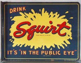 SQUIRT SODA FLANGE ADVERTISING SIGN