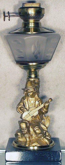 MUSICIAN OIL LAMP
