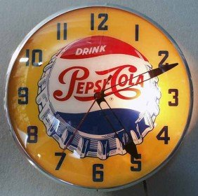PEPSI COLA ADVERTISING CLOCK