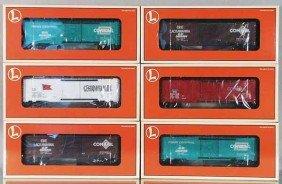 3 LIONEL OVERSTAMPED BOX CAR 2-PACKS