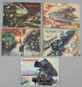 5 MARKLIN CATALOGS