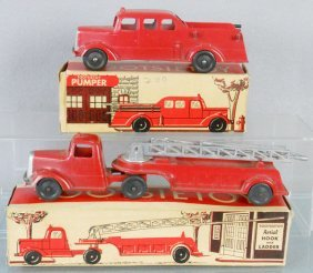 2 TOOTSIETOY FIRE VEHICLES
