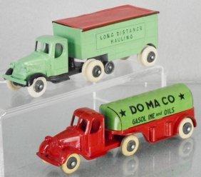 2 Tootsietoy Mack Trucks