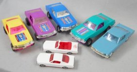 7 Plastic Mustangs