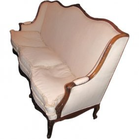 Louis Xv Style Carved Fruitwood Sofa
