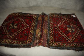 "Antique Shiraz Saddle Bag. 40"" X 21.5"""
