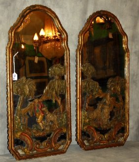 Pair Of 19th C. Maison Jansen Orientalist Style Carved