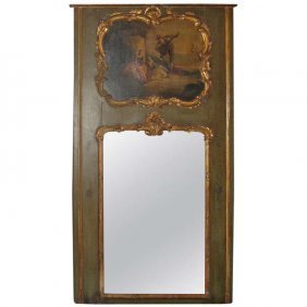 18th C. French Louis Xv Painted And Partial Gilt