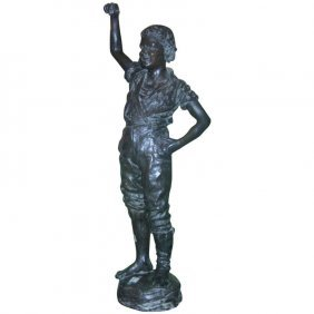 Adolfe Jean Lavergne, Fr. 1852-1901, Bronze Figure Of A