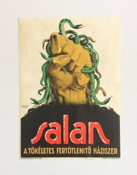 Salan - The Perfect Disinfectant Vintage Poster