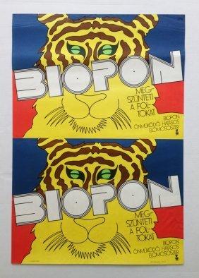 Biopon Washing Powder Vintage Poster