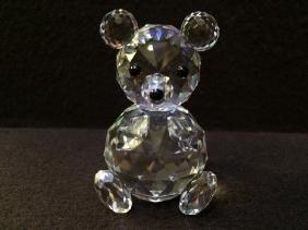Swarovski Crystal Teddy Bear Authentic Swan Logo & Name