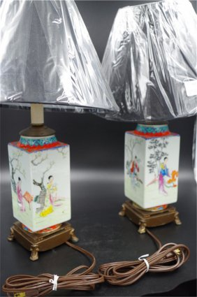 A Pair Chinese Porcelain Lamp