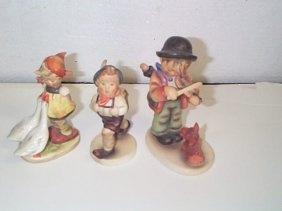 Lot Of Three Hummel Figurines Number # 47 3/0  Trad