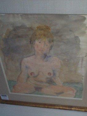 Raphael Soyer (1899-1987, American) Watercolor Of