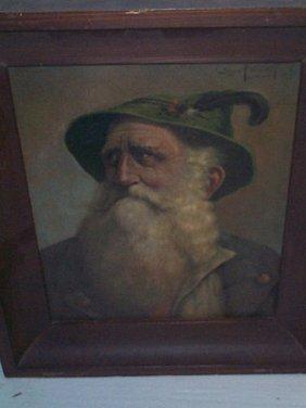 Siegmund Benvenuti Oil On Board Depicting A Portra