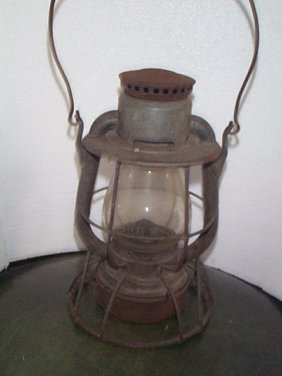 Dietz Railroad Lantern  Marked Boston & Main On To