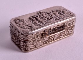 A Small Early 20th Century Swiss Silver Pill Box