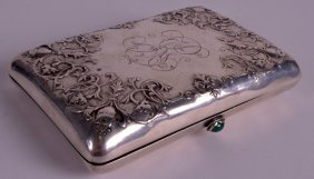 A 19th/20th Century Russian Silver Cigar Case With