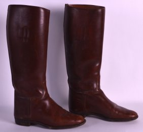 A Pair Of Good Quality Vintage Leather Riding Boots.