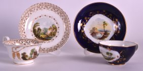 An Early 19th Century Derby Teacup And Saucer Painted