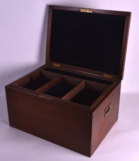 A Good Victorian Mahogany Jewellery Box With Removable