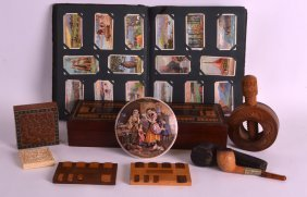 A Late Victorian Cribbage Board Together With Two Whist