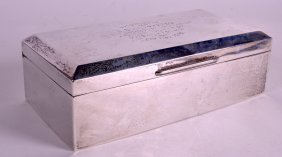 A George V Silver Cigarette Case With Presentation