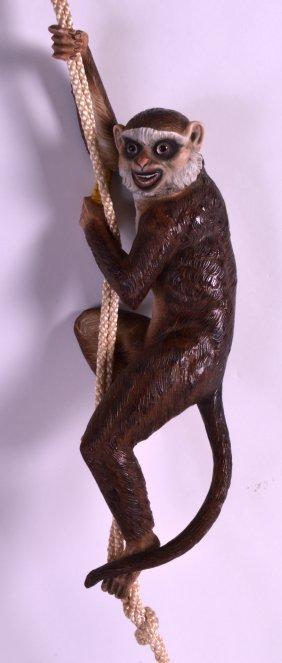 A Rare 19th Century Continental Bisque Monkey Curtain