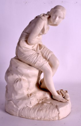 A 19th Century Parianware Figure Of A Female Modelled