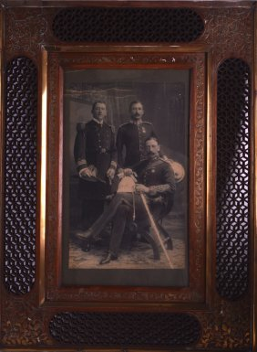 A 19th Century Framed Military Photograph Depicting A
