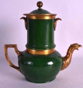 A Mid 19th Century Paris Porcelain Coffee Pot And Cover