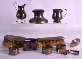 A Collection Of English Hallmarked Silver Wares