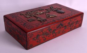 An Early 20th Century Chinese Rectangular Lacquered Box